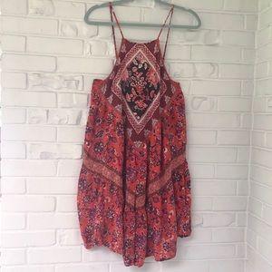 American Eagle Sleeveless Floral Boho Dress Size L